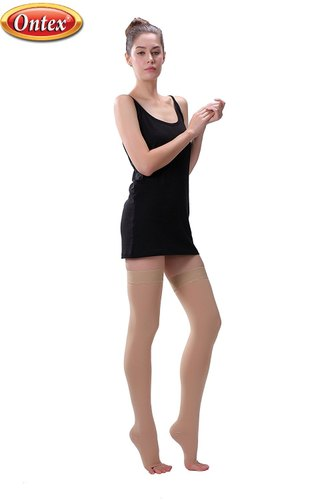 Cotton Compression Stockings Above Knee Varicose Veins