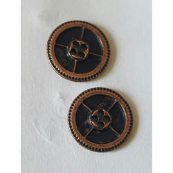 Copper Metal Design Buttons, Packaging Type: Packet