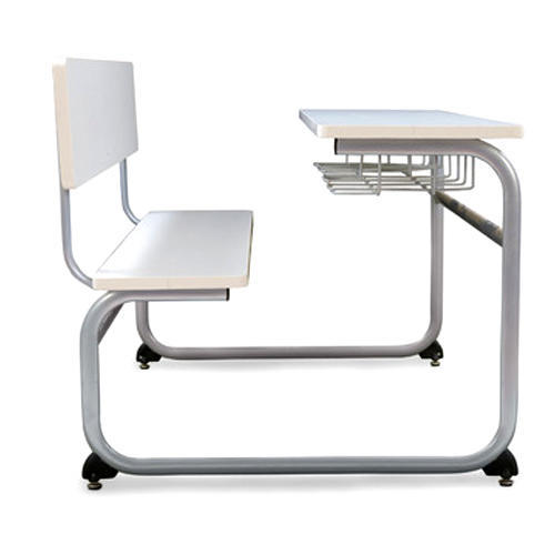 White Evolve Classroom Chair With Table, Krueger