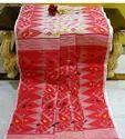 Soft Dhakai Jamdani Temple Sarees