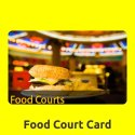 Printed Plastic Food Court Card