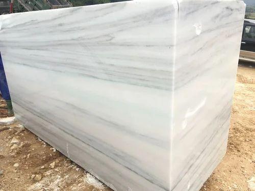Vietnam White Marble Block With Gray Veins For Kitchen