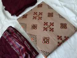 Kutchi Embroidered Dress Material