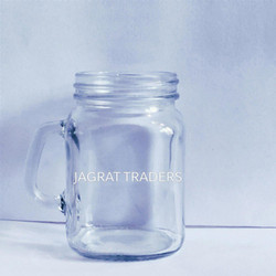 Small Handle Glass Jar