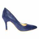 Women Navy Blue Stiletto Heels Sandal