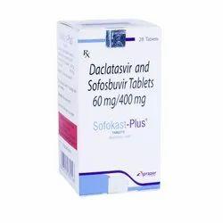 Sofokast - Plus - Daclatasvir And Sofosbuvir Tablets 60mg/400mg