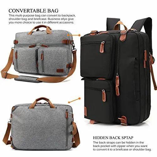 Korbel Plain Modular Convertible Backpack f4100cd6564ea