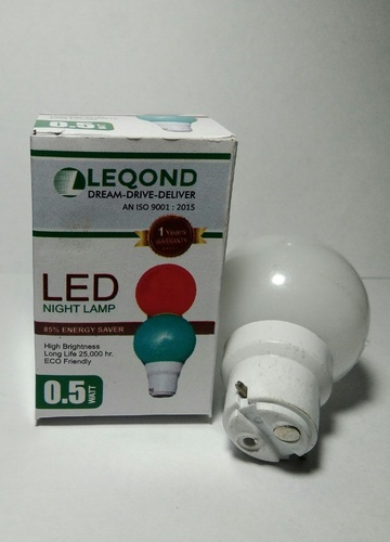 Cool White LED Night Bulb 0.5W with 7 Colour