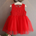 Charming Red Sleeveless Casual Dress