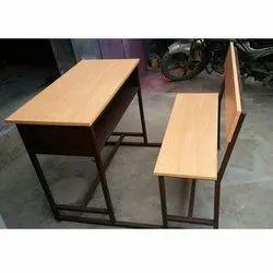 2 Seater Wooden School Desk