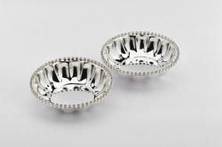 FB1026-Silver Plated Crystal Bowl (Small) Set of 2