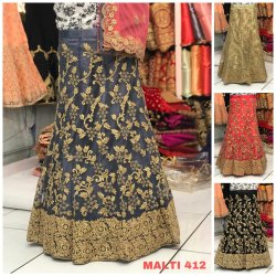 Heavy Net Gletter Embroidery Work Lehenga Choli