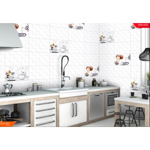 White Ceramic Kitchen Series Digital Printed Tiles Rs 115 Box Id 20670860455