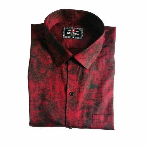 f3bbc2ade Stitchline Mens Satin Cotton Printed Shirt, Rs 245 /piece | ID ...