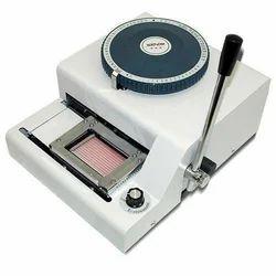 PVC Card Embossing Machine - Pvc Card Embosser Latest ...