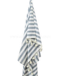 Fouta Beach Towel With White Tassels