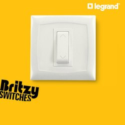 White Legrand 1 Way Modular Switch, Switch Size: 1 Module, ON/OFF