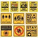COVID -19 Safety Signages & Stickers Printing / COVID -19 Safety Banners Printing