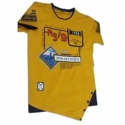 Cotton Casual Wear Kids Round Neck Printed T Shirt