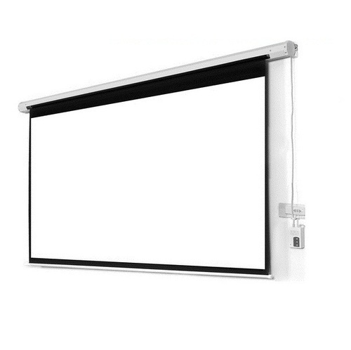 White Projection Screen Mdi Motorized