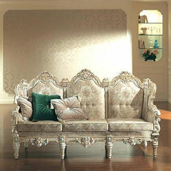 Designer Wooden Carved Sofa Set, For Home