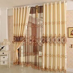 Cotton Printed Decorative Curtain, Length: 7-9 feet
