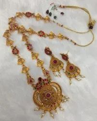 Brass Long Jewellery Set