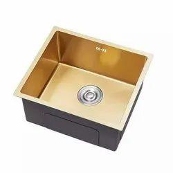 Handmade Golden Matt Stainless Steel Single Bowl Sink