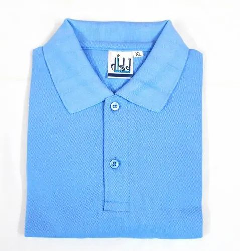 Sky Blue Polo T Shirt For Men