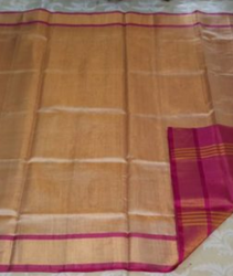 Walnut Color Uppada Tissar Silk Saree