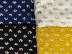 Multicolor 44 inch Rayon Gold Printed Garment Fabric for Garments, Weight: 12 kg