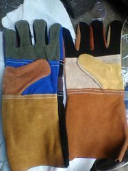 Multi Color Leather Gloves