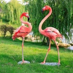 FRP Flamingo Bird Statue