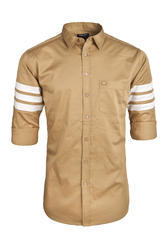 Mens Designer Yellow Casual Shirt