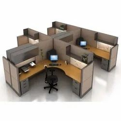 Wooden Modular Office Furniture Designing Service, For In Offices