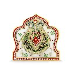 Marble Mehrab Peecock Four Key Holder