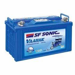 150 Ah SF Sonic Erickshaw Battery, Voltage: 12 V, Model Number: 12sv100l