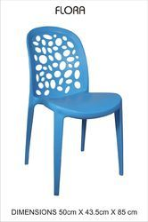 Plastic Blue Stylish Cafe Chair