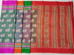 Ladies Colored Border Kota Silk Saree