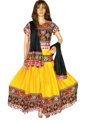 Navratri Wear - Indian Handmade Kutch Embroidered Lehenga Choli