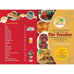 Hotel Menu Card Printing Services In Kadodara Surat Radiant