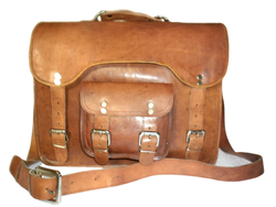 Goat Leather Retro Design Laptop Bag