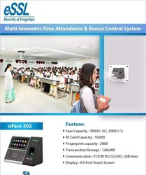 uface 302 Face Recognition Time & Attendance Machine