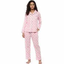 Cotton Girls Night Suit, T-shirt & Pants