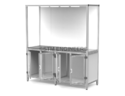 2x8 Product Display Unit with Storage