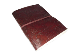 Flower Embossed Handmade Leather Journal