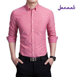 Men Cotton Pink Formal Shirt, Size: S to XXL