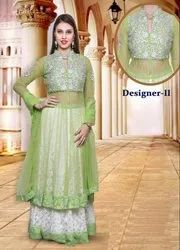 Net Heavy Party Wear Indian Lehengas Choli