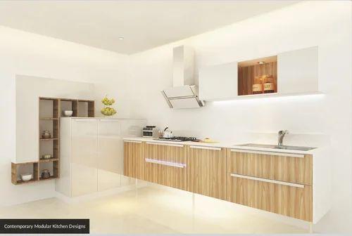 Contemporary Modular Kitchen Designs Metrika Ahmedabad Id