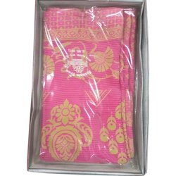 Casual Wear Ladies Pink Georgette Printed Saree, 6.3 m (with blouse piece)